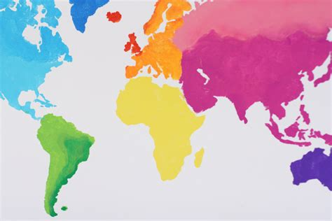 watercolor map tutorial a watercolor world map everyday reading