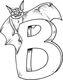letter b coloring pages colouring page of letter b with bat coloring point