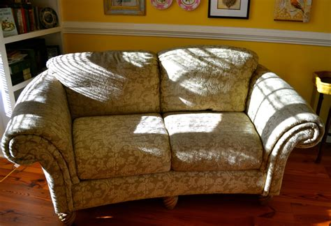 no sew slipcover tuck pin done no sew loveseat slipcover in 30