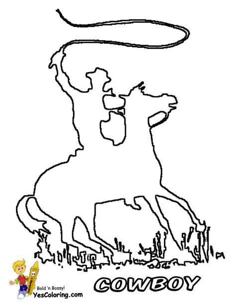 Cowboy Pictures To Color by Ride Em Cowboy Coloring Free Coloring For Westerns