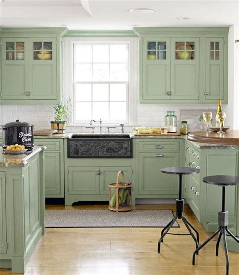 Green Kitchen Sink Diy 30 Fabulous Farmhouse Sinks Come The Cottage Green Cabinets And