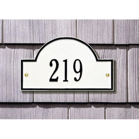 L Post With Address Plaque by Arched Address Plaque Address Plaques And House Numbers