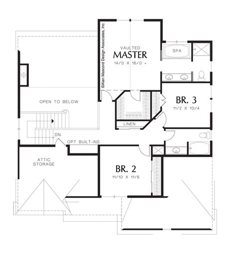 mascord house plan 22140 the landon