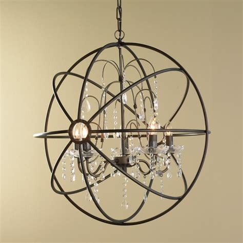 Crystal And Metal Orb Chandelier Chandeliers By Shades Glass Orb Chandelier