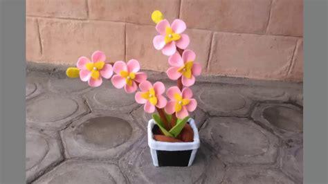 tutorial membuat bunga sakura dari kain flanel gambar contoh pola kerajinan kain flanel macam membuatnya