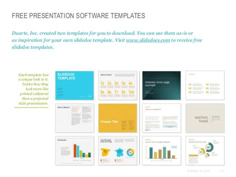 Free Presentation Software Templates Duarte Duarte Presentation Templates