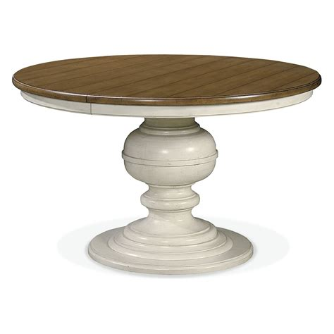 kitchen table pedestals universal furniture summer hill pedestal dining