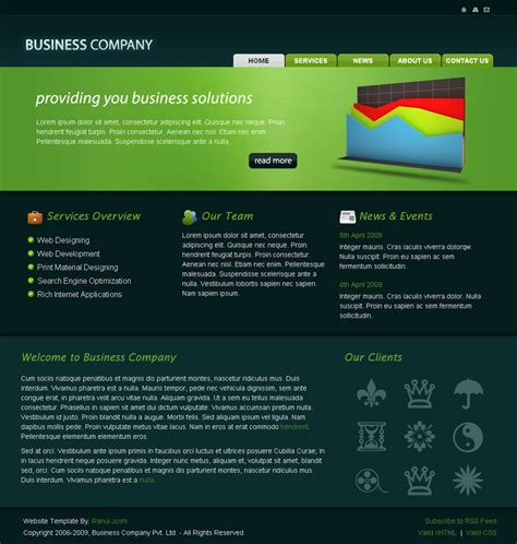 Business Company Html Template By Rjoshicool Themeforest Html Template