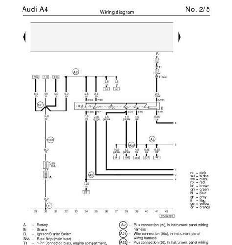 the audi a4 s wiring diagram for ignition starter switch