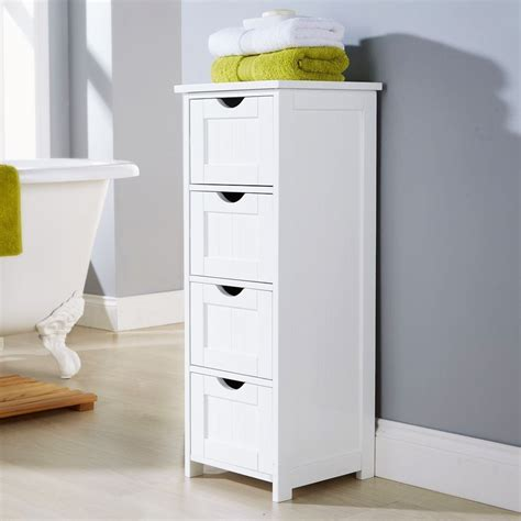 modern shaker baltimore white 4 drawer storage bathroom