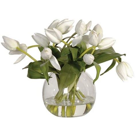 artificial tulips in a fishbowl vase tul003 artificial