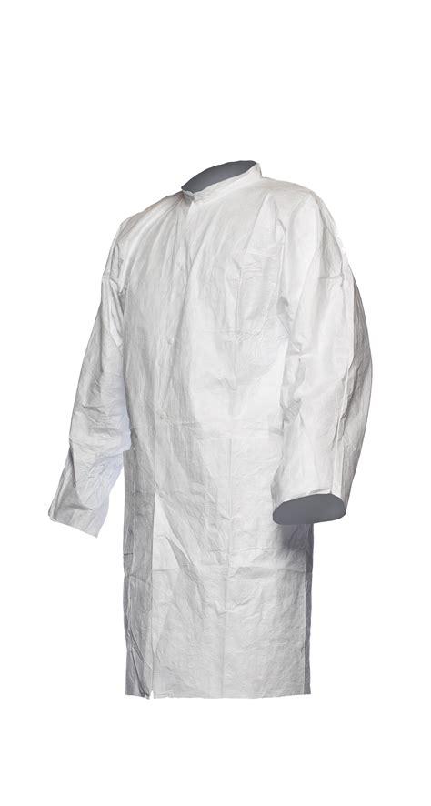 Disposable Coat dupont tyvek disposable lab coat stud no pockets tg13np