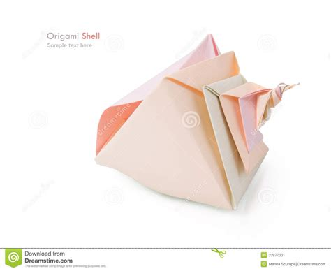 Origami Conch Shell - origami shell stock image image 33977001