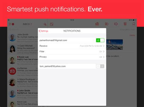 iphone gmail layout mymail email for hotmail gmail and yahoo mail on the