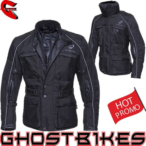 bike jackets for black cool it waterproof motorcycle motorbike touring bike