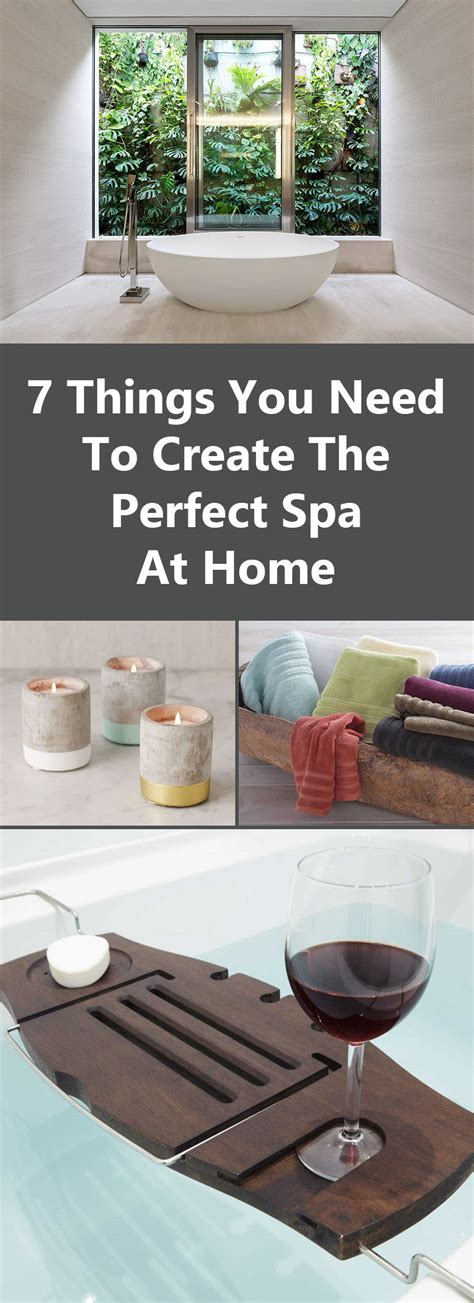 7 things you need to create the spa at home
