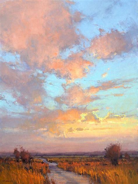 Painting K by Artist Casebeer Title Dusk On Skyline Road Medium