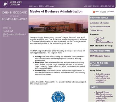 Weber State Mba Average Salary by Weber State B Goddard School Of Business