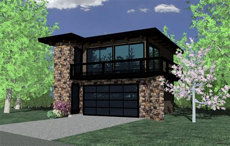 Contemporary Garage Studio 85022ms 2nd Floor Master Narrow Carriage House Plans