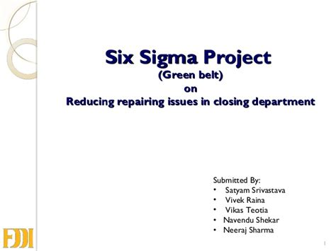 six sigma black belt project template defect reduction lean six sigma green belt project in