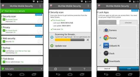 mcafee for android mcafee antivirus for android update adds capturecam wi fi protection softpedia