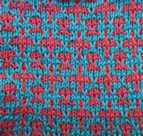 knitting pattern with two colors knit with two colors chain