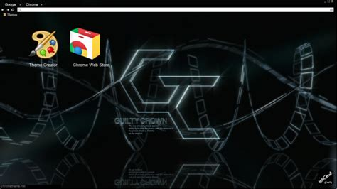 theme chrome guilty crown guilty crown logo chrome theme themebeta