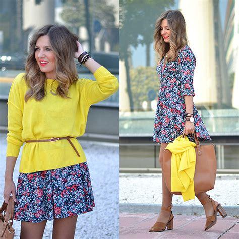 Fasiha Shoes Hellena Sonja helena cueva queguapa dress h m sweater mango sandals yellow flowers lookbook