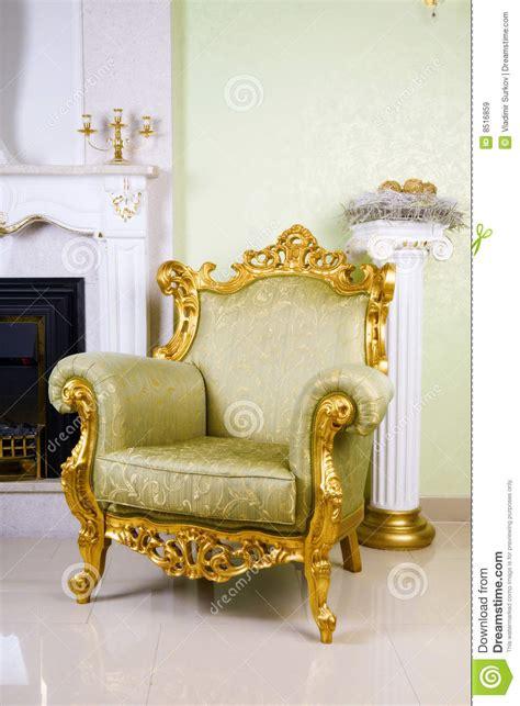 poltrona antica poltrona antica immagine stock immagine di mobilia verde