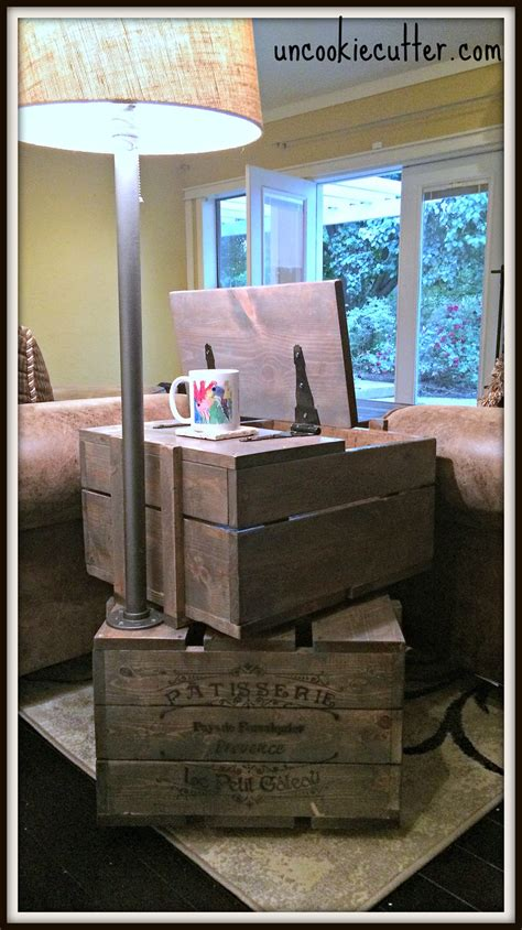 crate end table diy end table stacked crates with storage and l