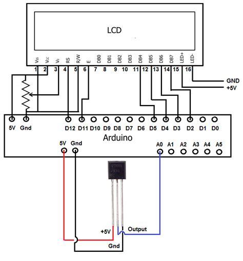 digital temperature sensor circuit diagram temperature sensor schematic digital temperature sensor