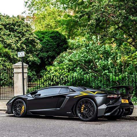 lamborghini aventador sv roadster matte black matte black yellow lamborghini aventador sv aventadorsv lp7504 lp750 roadster