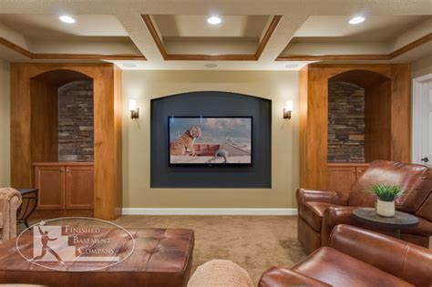 basement tv wall traditional basement minneapolis