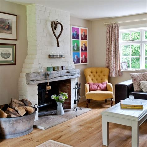 Decorating Ideas For Living Room With Chimney Breast Traditional Living Room With Exposed Brick Chimney Breast