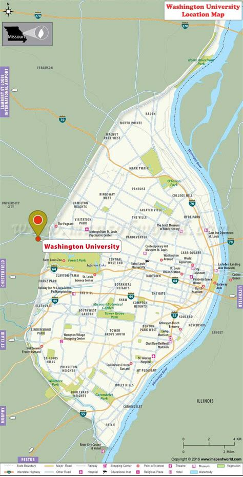 st louis missouri map usa washington location map fees majors academic
