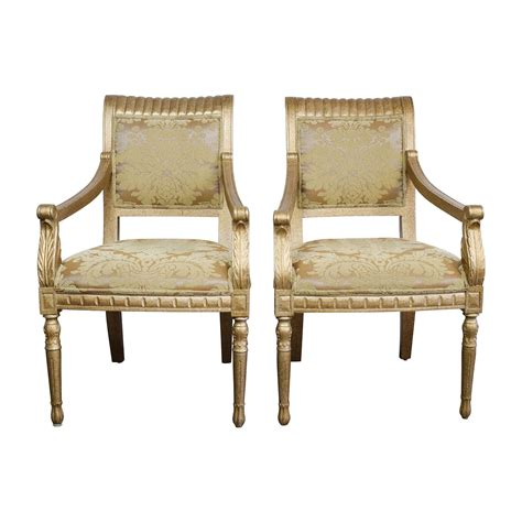 Upholstered Accent Chairs With Arms by 80 Rustic Gold Upholstered Arm Accent Chairs Chairs