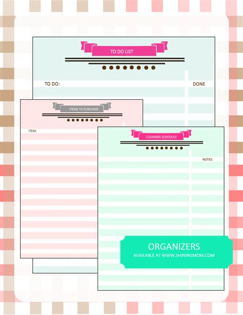 printable planner organizer 2016 your free 2016 planner chic and stylish