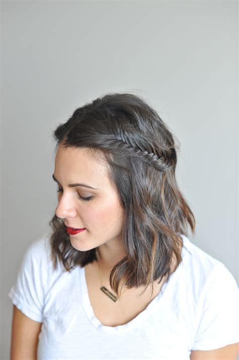 20 cutest short braided hairstyles for any woman fishtail braid tutorial for short hair