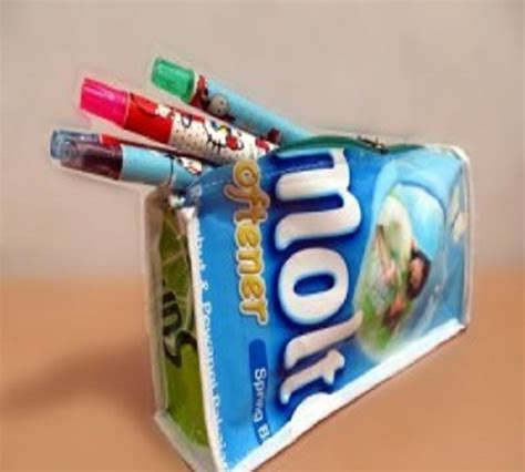 Dompet Tempat Pensil Plastik sulap bungkus plastik kemasan menjadi dompet tempat pensil zona kreatif