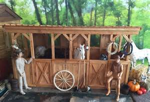 Two Stall Horse Barn 1 6 Scale Horse Stable For Johnny West Barbie Did