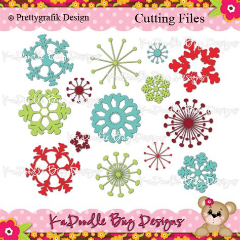 ka doodlebug designs snowflakes 1 00 kadoodle bug designs cut files digi