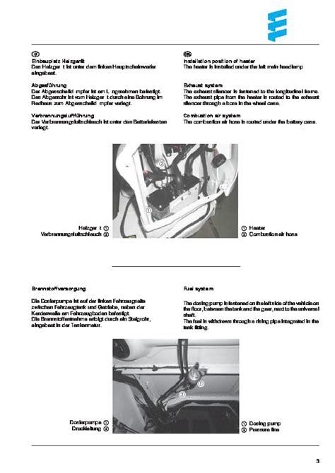 vehicle repair manual 2011 mercedes benz sprinter user handbook mercedes benz sprinter w901 w905 ncv3 hydronic work installation owners manual