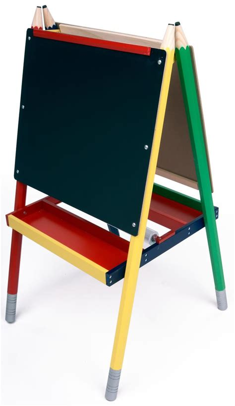 childrens easel easels for kids double sided markerboard and chalkboard