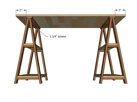 diy sawhorse desk white 1x3 sawhorse desk diy projects