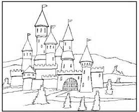 colorindo desenhando castelo colorir
