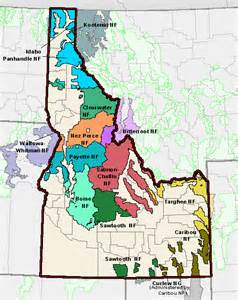 TheMapStore   Idaho National Forest Map Boise Caribou ...