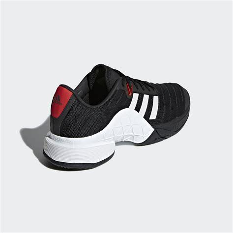 adidas mens barricade 2018 tennis shoes black white tennisnuts