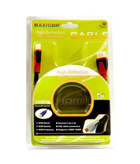 3 In 1 Hdmi Cable 1 5 Meter buy maxicom hdmi cable 1 5 meter at best price in