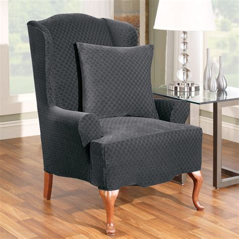 sure fit slipcovers wing chair sure fit stretch stone wing chair slipcover reviews