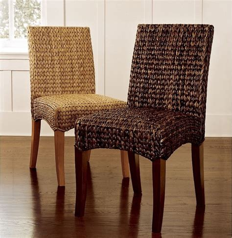 wicker kitchen furniture sea grass chair modern dining chairs by pottery barn